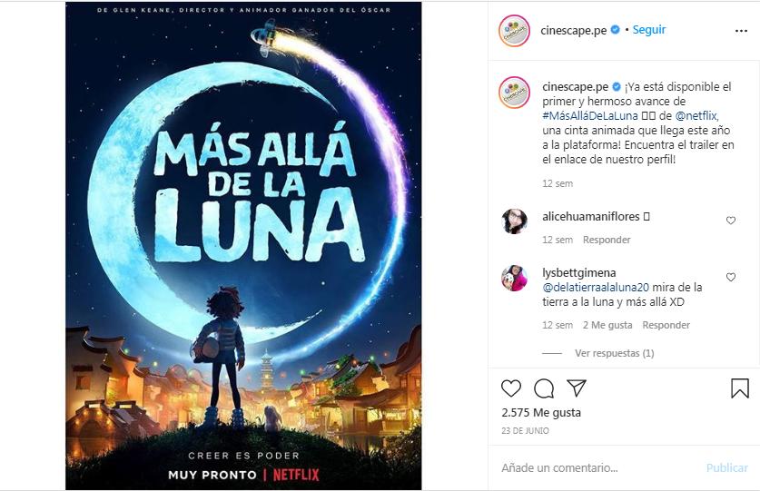 Película Más allá de la luna (2020)